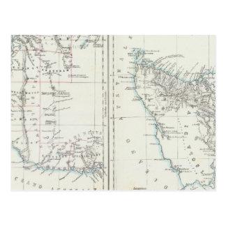 Australie occidentale et la Tasmanie Carte Postale