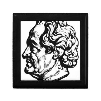 Auteur allemand Goethe Petite Boîte À Bijoux Carrée