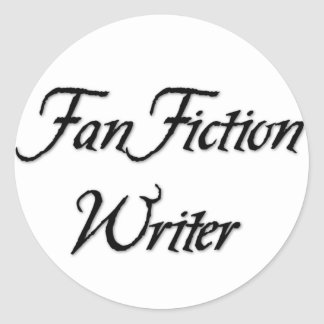 Auteur de fiction de fan sticker rond