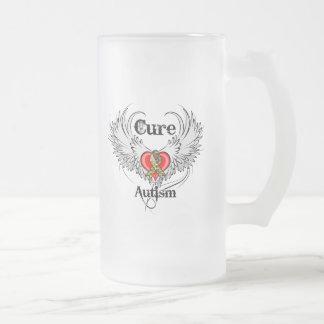 Autisme de traitement mug en verre givré