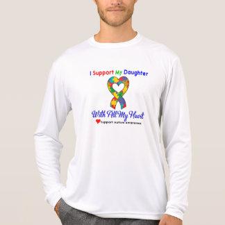 Autisme : Je soutiens ma fille de tout mon coeur T-shirt