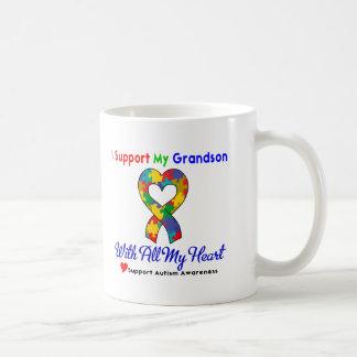 Autisme : Je soutiens mon petit-fils de tout mon Mug Blanc