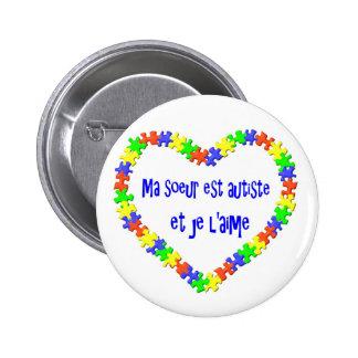 Autiste d'est de soeur de Macaron mA et l'aime de  Badge