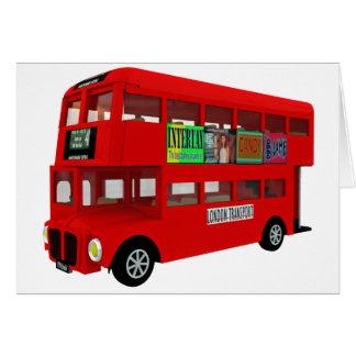 Autobus à deux étages carte de vœux