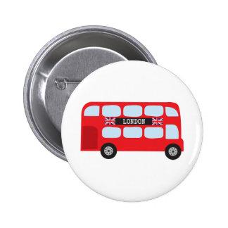 Autobus à deux étages de Londres Badge Rond 5 Cm
