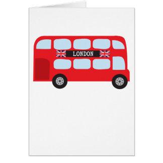 Autobus à deux étages de Londres Cartes De Vœux