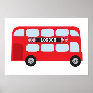 Autobus à deux étages de Londres Poster