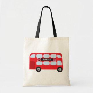 Autobus à deux étages de Londres Sac En Toile Budget