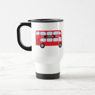 Autobus à deux étages de Londres Mug De Voyage En Acier Inoxydable