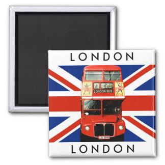 Autobus de l'aimant W. Londres de réfrigérateur et