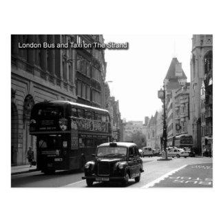 autobus de Londres et carte postale de taxi