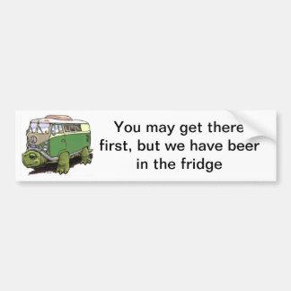 autobus de tortue, vous pouvez y arriver le premie autocollant de voiture