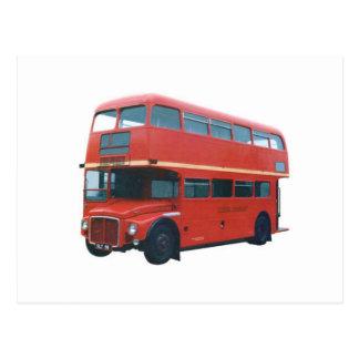 Autobus rouge iconique Poscard de Londres Carte Postale