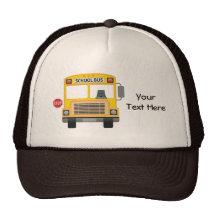 Autobus scolaire personnalisable casquettes de camionneur