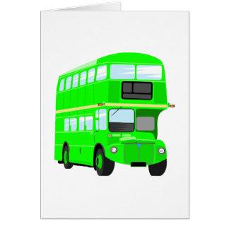 Autobus vert carte de vœux
