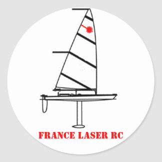 Autocolant rond FRANCE LASER RC Sticker Rond