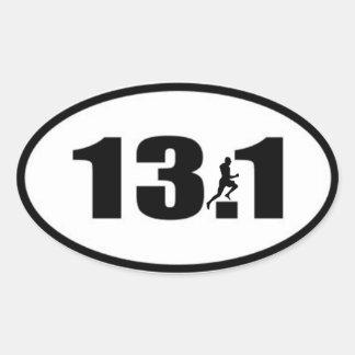 Autocollant 13,1 avec le coureur