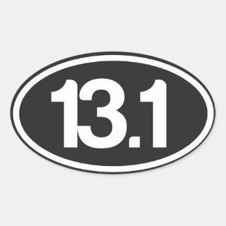 Autocollant 13,1 de noir (demi d'autocollant de