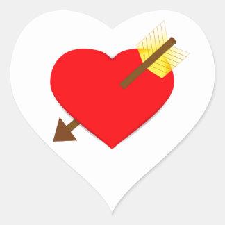 Autocollant 1 de coeur et de flèche