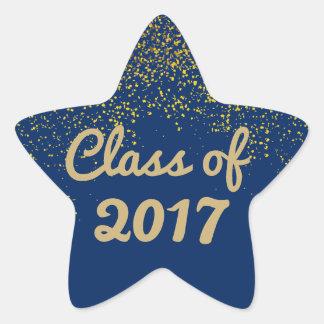 Autocollant 2017 d'étoile d'obtention du diplôme