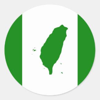 Autocollant 2 de drapeau de Taïwan