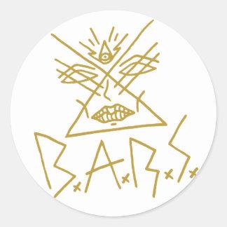 """autocollant 3"""" de visage d'or de 6x B.A.R.S."""