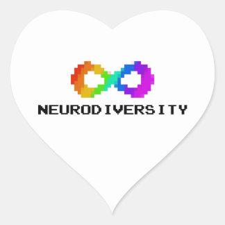 autocollant à 8 bits de coeur de Neurodiversity