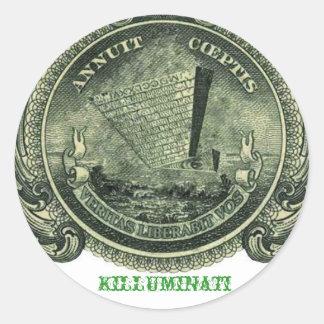 Autocollant à l'envers de pyramide de Killuminati
