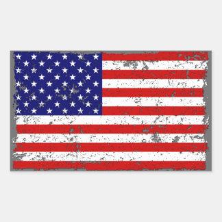Autocollant affligé de drapeau américain