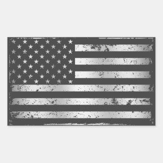 Autocollant affligé du drapeau américain II