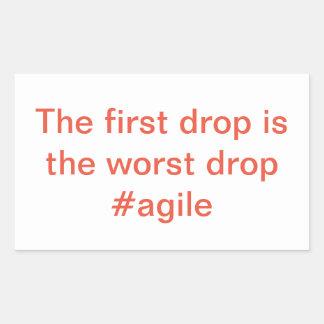 Autocollant agile -- La première baisse est la
