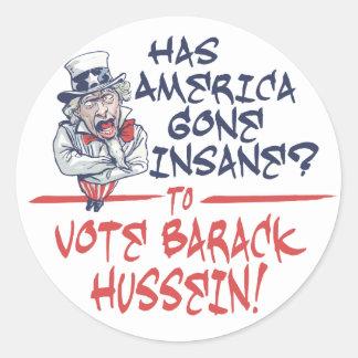 Autocollant aliéné de Hussein