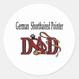 Autocollant allemand de papa d'indicateur aux