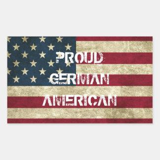Autocollant américain allemand fier