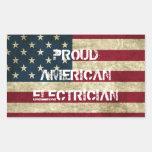Autocollant américain fier d'électricien