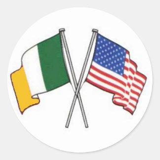 Autocollant américain irlandais