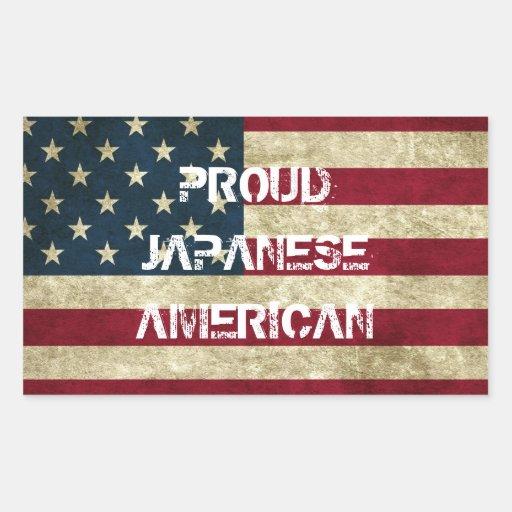 Autocollant américain japonais fier