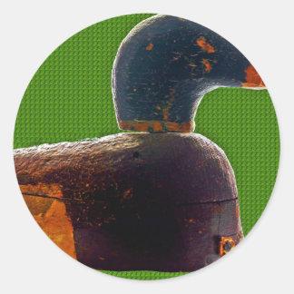 Autocollant antique de leurre de canard