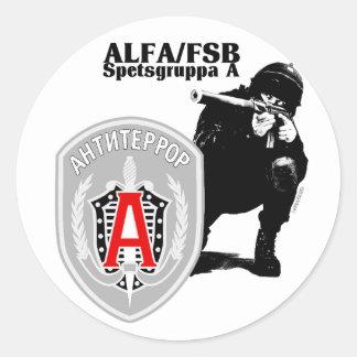 Autocollant Antiterror de groupe d ALPHA de Spezna