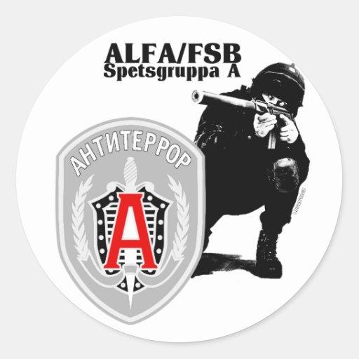 Autocollant Antiterror de groupe d'ALPHA de Spezna
