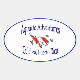 Autocollant aquatique d'aventures