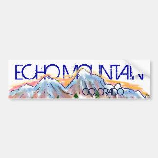 Autocollant artistique de montagne du Colorado de