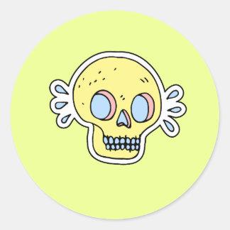 autocollant au néon de crâne