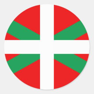 "Autocollant avec Drapeau Basque ""Ikkurina"""