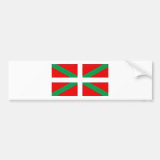 """Autocollant avec drapeau Basque """"Ikkurina"""" Autocollant Pour Voiture"""
