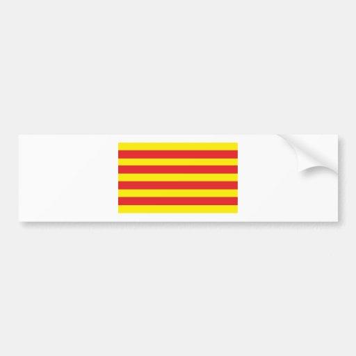 """Autocollant avec Drapeau Catalan """"Serenya"""" Adhésifs Pour Voiture"""