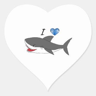 Autocollant avec la conception mignonne de requins