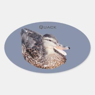 autocollant avec le canard indiquant le charlatan