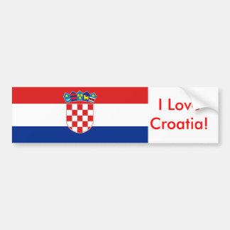 Autocollant avec le drapeau de la Croatie Autocollant Pour Voiture