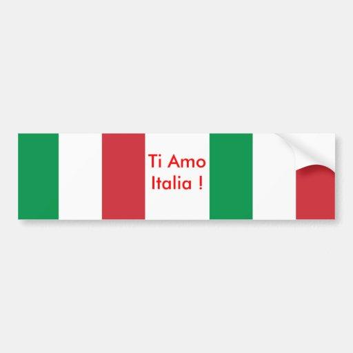 Autocollant avec le drapeau de l'Italie Autocollants Pour Voiture